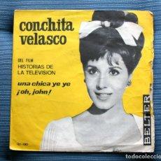 Discos de vinilo: CONCHITA VELASCO=DEL FIM UNA CHICA YEYE. Lote 175313470