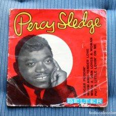Discos de vinilo: PERCY SLEDGE - SUGAR PUDDIN / WHEN A MAN… + 2 TEMAS BELTER - 1966. Lote 175313762