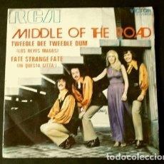 Discos de vinilo: MIDDLE OF THE ROAD (SINGLE 1971) LOS REYES MAGOS - TWEEDLE DEE TWEEDLE DUM . Lote 175316180