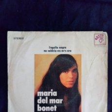Discos de vinilo: MARÍA DEL MAR BONET SINGLE AUTOGRAFIADO. Lote 175332292