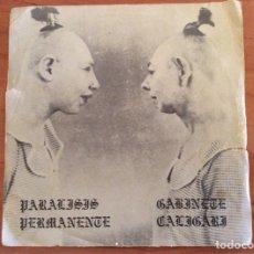 Discos de vinilo: VINILO PARALISIS PERMANENTE Y GABINETE CALIGARI EDITA DRO 003 TRES CIPRESES 1982. Lote 175337128