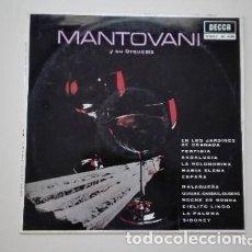 Discos de vinilo: MANTOVANI Y SU ORQUESTA LP DECCA 1963. Lote 175337709