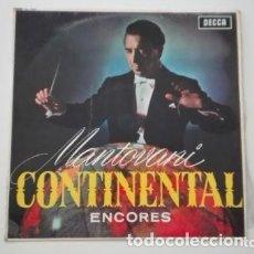Discos de vinilo: MANTOVANI Y SU ORQUESTA LP ÉXITOS CONTINENTALES ENCORES DECCA 1960. Lote 175337785