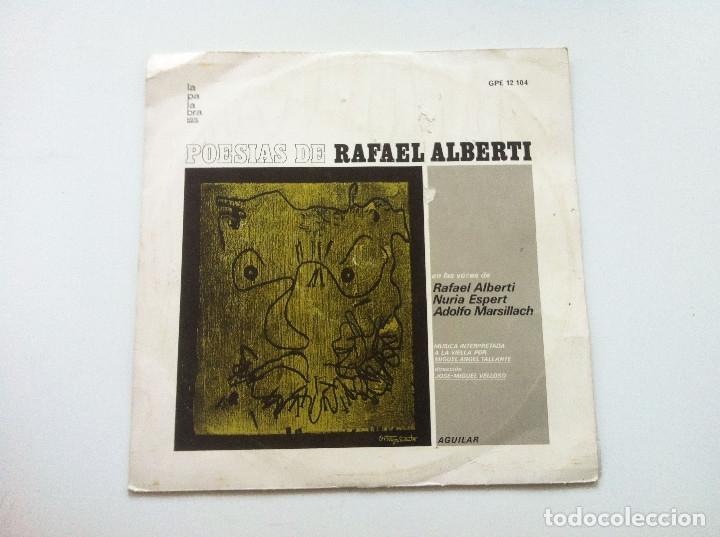 POESIAS DE RAFAEL ALBERTI. VOCES DE ALBERTI, NURIA ESPERT Y ADOLFO MARSILLACH (Música - Discos de Vinilo - Maxi Singles - Cantautores Españoles)