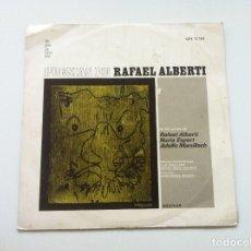 Discos de vinilo: POESIAS DE RAFAEL ALBERTI. VOCES DE ALBERTI, NURIA ESPERT Y ADOLFO MARSILLACH. Lote 175347149