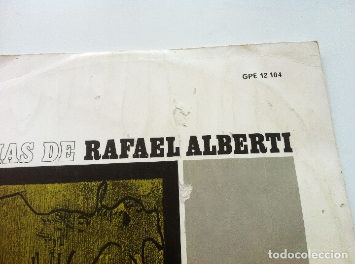 Discos de vinilo: POESIAS DE RAFAEL ALBERTI. VOCES DE ALBERTI, NURIA ESPERT Y ADOLFO MARSILLACH - Foto 2 - 175347149