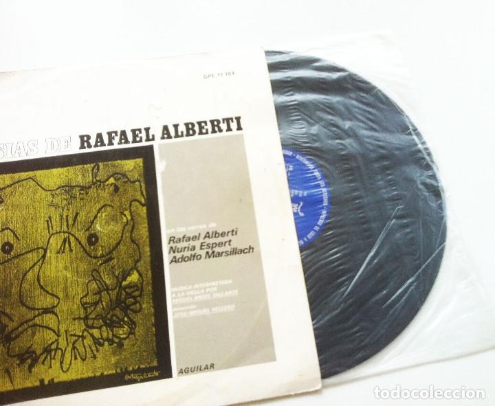 Discos de vinilo: POESIAS DE RAFAEL ALBERTI. VOCES DE ALBERTI, NURIA ESPERT Y ADOLFO MARSILLACH - Foto 3 - 175347149