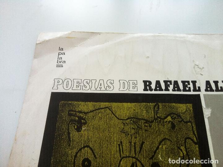 Discos de vinilo: POESIAS DE RAFAEL ALBERTI. VOCES DE ALBERTI, NURIA ESPERT Y ADOLFO MARSILLACH - Foto 4 - 175347149