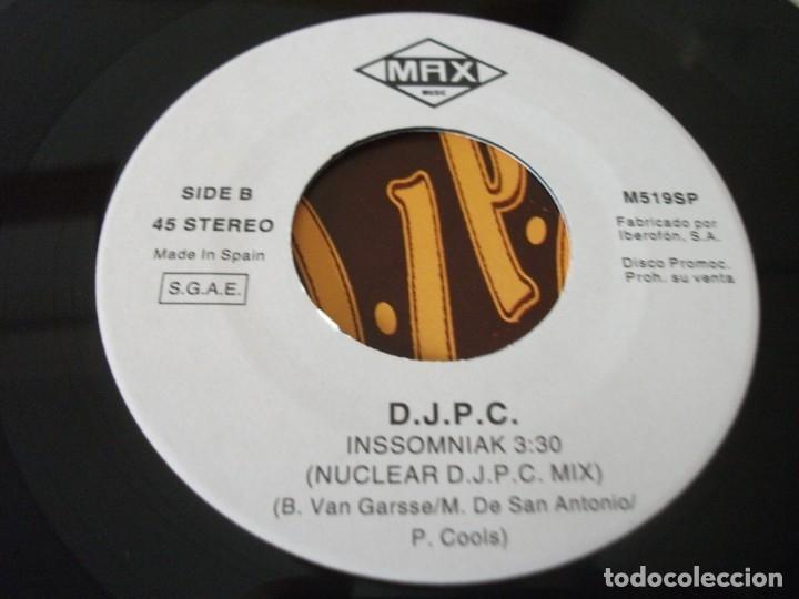 Discos de vinilo: SINGLE PROMOCIONAL DE D.J P.C , INSSOMNIAK (2 VERSIONES) - Foto 4 - 175359194