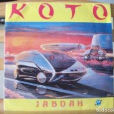 Discos de vinilo: SINGLE DE KOTO , JABDAH (2 VERSIONES), AÑO 1987, VINILO EN MUY BUEN ESTADO. Lote 175359517
