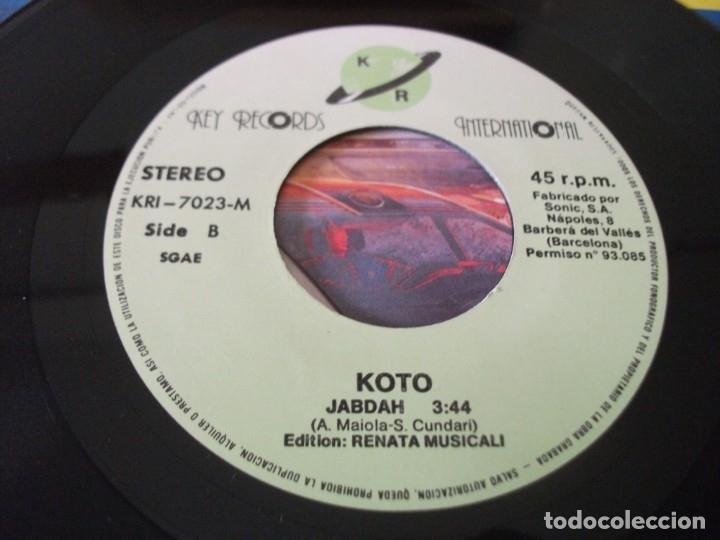 Discos de vinilo: SINGLE DE KOTO , JABDAH (2 VERSIONES), AÑO 1987, VINILO EN MUY BUEN ESTADO - Foto 4 - 175359517