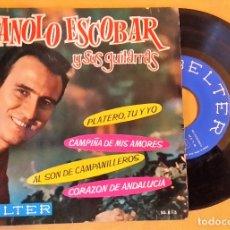 Discos de vinilo: EP MONOLO ESCOBAR Y SUS GUITARRAS - PLATERO Y YO, +3, 1962, BELTER – 50.815, (VG+_VG+). Lote 175395604