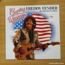 Discos de vinilo: FREDDY FENDER - 20 GREATEST HITS - LP. Lote 175398422