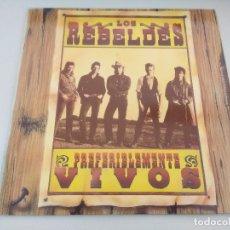 Discos de vinilo: VINILO/LOS REBELDES/PREFERENTEMENTE VIVOS/DOBLE LP.. Lote 175402199