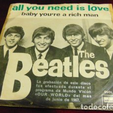 Discos de vinilo: THE BEATLES – ALL YOU NEED IS LOVE - SINGLE 1967. Lote 175403834