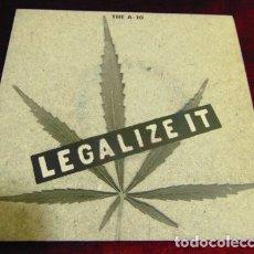 Discos de vinilo: THE A-10 – LEGALIZE IT - SINGLE MUNSTER RECORDS 1994. Lote 175404118