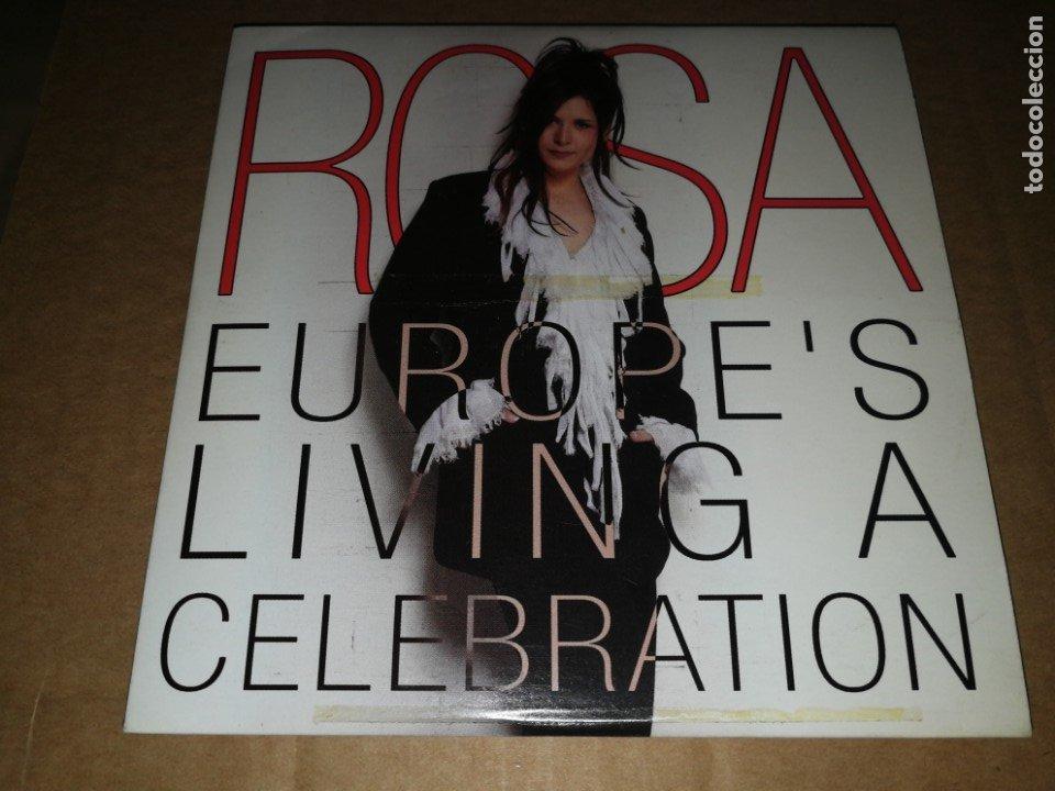 ROSA EUROPE´S LIVING A CELEBRATION CD SINGLE PROMOCIONAL DE CARTON AÑO 2002 TEMA FESTIVAL EUROVISION (Música - Discos - Singles Vinilo - Festival de Eurovisión)