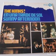 Discos de vinilo: THE KINKS- SUNNY AFTERNOON ( EN UNA TARDE DE SOL) - SPAIN 1966 EP- EN BUEN ESTADO.. Lote 175413304