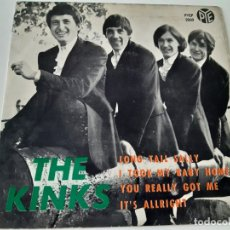 Discos de vinilo: THE KINKS- LONG TALL SALLY - SPAIN 1964 EP- VINILO EN BUEN ESTADO.. Lote 175413628