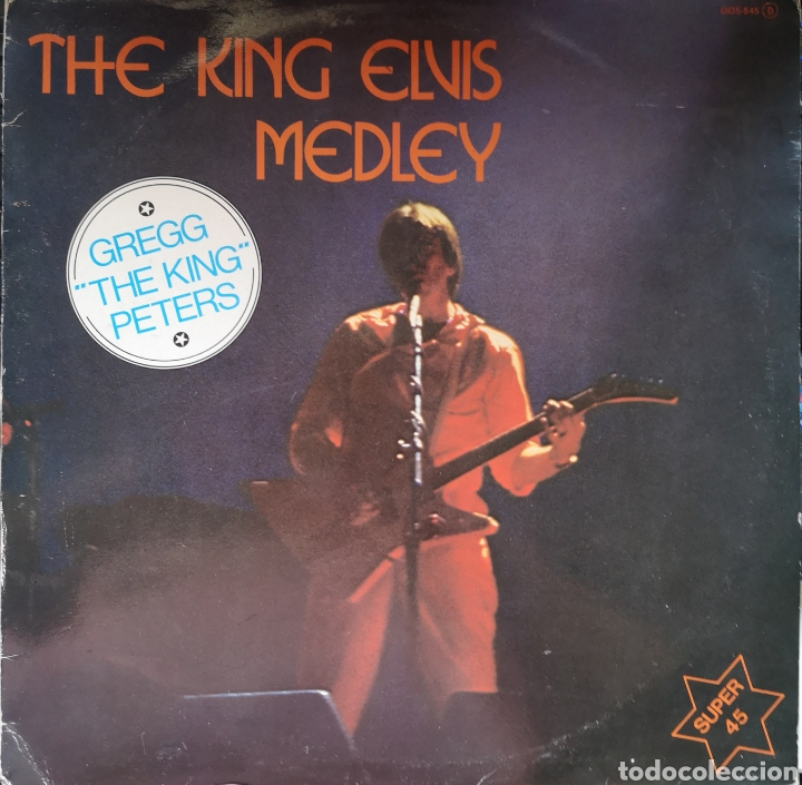 THE KING ON LONG PLAY - THE KING ELVIS MEDLEY - GREGG THE KING PETERS - VINILO PROMOCIONAL (Música - Discos de Vinilo - EPs - Pop - Rock - New Wave Internacional de los 80)