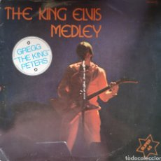 Discos de vinilo: THE KING ON LONG PLAY - THE KING ELVIS MEDLEY - GREGG THE KING PETERS - VINILO PROMOCIONAL. Lote 175431458