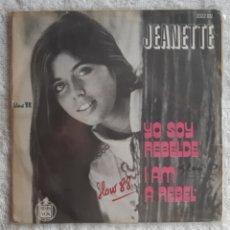 Discos de vinilo: JEANETTE, SOY REBELDE, CANTA EN INGLES. Lote 175433003