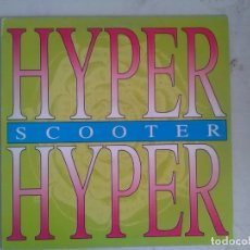 Disques de vinyle: SCOOTER HYPER HYPER MAXI BLANCO Y NEGRO 1994. Lote 175447335
