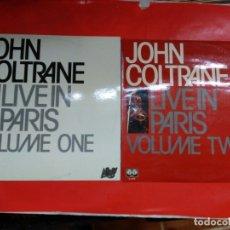 Discos de vinilo: JOHN COLTRANE LIVE IN PARIS VOLUME ONE Y VOLUME TWO.. Lote 175449449