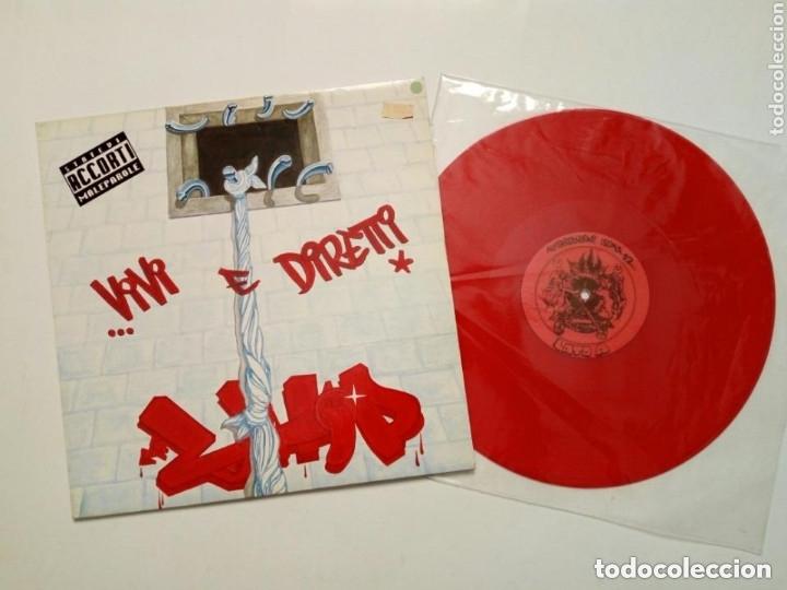 LP : LION HORSE POSSE - VIVI E DIRETTI (LEONKAVALLO 22, 1992) VINILO EN COLOR ROJO - HIP HOP - PUNK (Música - Discos - LP Vinilo - Rap / Hip Hop)