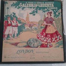 Discos de vinilo: LA ALEGRIA DE LA HUERTA, FABRICADO EN INGLATERRA, LONDON INTERNACIONAL W 91039. Lote 175462938