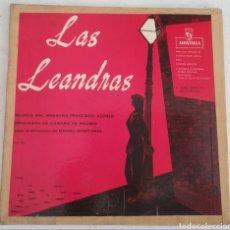 Discos de vinilo: LAS LEANDRAS, PASATIEMPO CÓMICO LÍRICO EN DOS ACTOS. MÚSICA DEL MAESTRO FRANCISCO ALONSO. MONTILLA. Lote 175464050