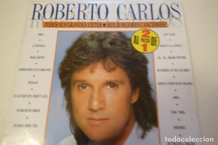 DISCO VINILO. ROBERTO CARLOS 2 DISCOS. (Música - Discos - Singles Vinilo - Cantautores Internacionales)