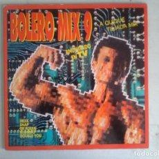 Discos de vinilo: BOLERO MIX 9 LPBLANCO Y NEGRO 1992. Lote 175474413