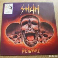 Discos de vinilo: LP. SHAH. BEWARE. ENCARTE LETRAS. MUY BUENA CONSERVACION.. Lote 175478684