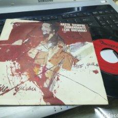 Discos de vinilo: GRUPO FOLK SINGLE HASTA SIEMPRE COMANDANTE (CHE GUEVARA) ESPAÑA 1976. Lote 175499323