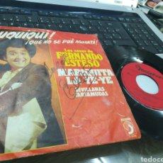 Discos de vinilo: FERNANDO ESTESO SINGLE MARIQUITA LA YE-YE 1973 FIRMADO POR EL. Lote 175505330