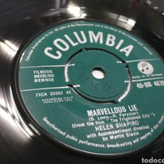 Discos de vinilo: HELEN SHAPIRO SINGLE MARVELLOUS LIE U.K. 1961. Lote 175522313