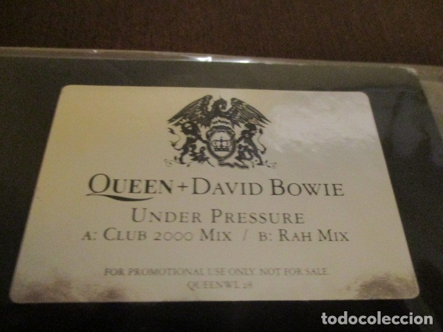 QUEEN - DAVID BOWIE - UNDER PRESSURE - MAXI SINGLE - CLUB 2000 MIX + RAH MIX - PROMO - QUEEWL28 (Música - Discos de Vinilo - Maxi Singles - Pop - Rock Extranjero de los 70)