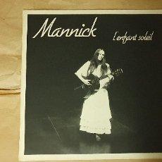 Discos de vinilo: MANNICK ?– L'ENFANT SOLEIL SELLO: DISC'AZ ?– AZ/2 405 FORMATO: VINYL, LP PAÍS: FRANCE FECHA: 1982 G. Lote 175529530