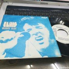 Discos de vinilo: ELVIS SINGLE PROMOCIONAL MOODY BLUE ESPAÑA 1977. Lote 175535195
