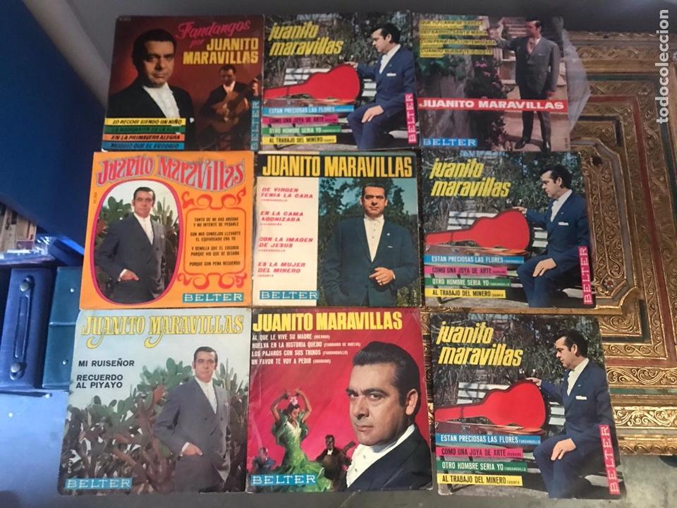 LOTE DE SINGLE JUANITO MARAVILLAS (Música - Discos - Singles Vinilo - Flamenco, Canción española y Cuplé)