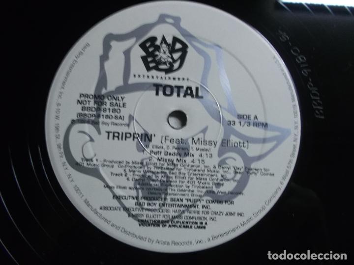Discos de vinilo: Total – Trippin (Remix) What About Us (Remix) Sello Bad Boy Entertainment – BBD - Foto 5 - 175543799
