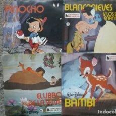 Discos de vinilo: LOTE DE 4 CUENTO LIBRO DE MUSICA INFANTIL-MAS DISCO SUELTO QUE VA DE REGALO. Lote 175543937