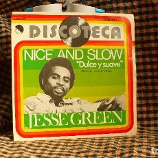 Disques de vinyle: JESSE GREEN -- NICE AND SLOW ( DULCE Y SUAVE) VOCAL / NICE AND SLOW ( DULCE Y SUAVE) INSTRUMENTAL--. Lote 175562203