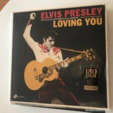 Discos de vinilo: ELVIS PRESLEY - LOVING YOU (1957) - LP REEDICIÓN PAN AM 2018 NUEVO - 3 BONUS TRACKS. Lote 175563753