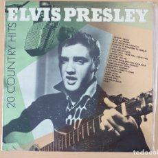 Discos de vinilo: ELVIS PRESLEY - 20 COUNTRY HITS (LP) 1987. Lote 175587158