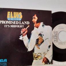 Discos de vinilo: ELVIS PRESLEY- PROMISED LAND - SPAIN PROMO SINGLE 1974 - VINILO EXC. ESTADO. Lote 175588490