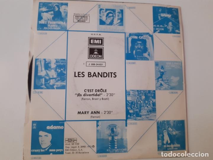 Discos de vinilo: LES BANDITS- C´EST DROLE - SPAIN PROMO SINGLE 1973 - VINILO COMO NUEVO. - Foto 2 - 175588920
