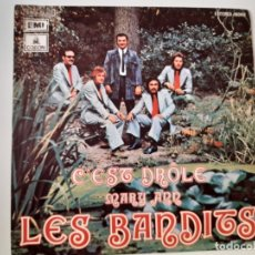Discos de vinilo: LES BANDITS- C´EST DROLE - SPAIN PROMO SINGLE 1973 - VINILO COMO NUEVO.. Lote 175588920