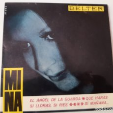 Discos de vinilo: MINA- EL ANGEL DE LA GUARDA - SPAIN EP 1965.. Lote 175594449